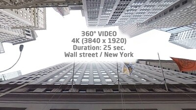 Wall street 360° New York 4K (3840 x 1920)