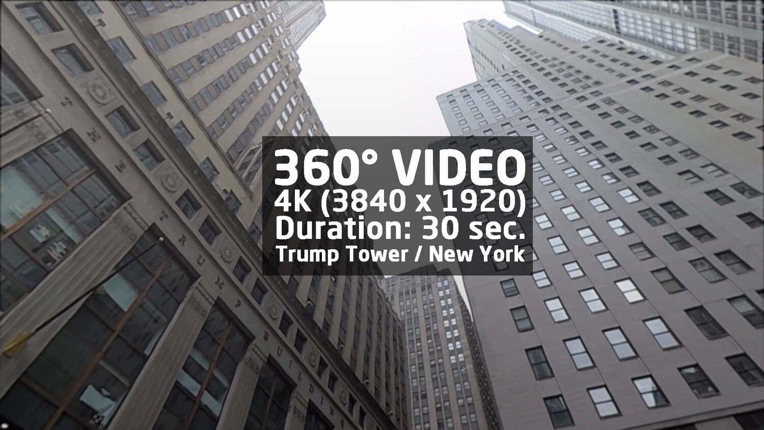 View to Trump building in New York 360° Video