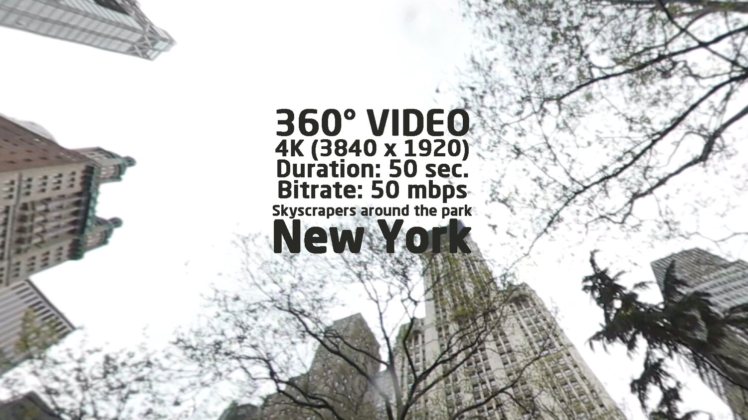 New York. View to skyscrapers around the park in 360