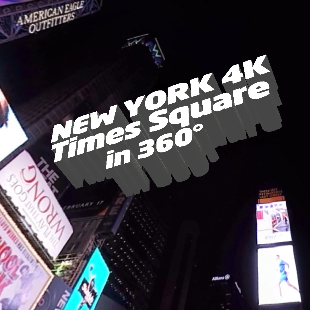 The lights of Times Square  in the night  in New York