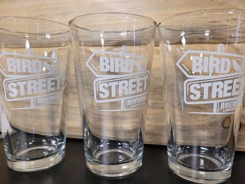 Pint Glass (Bird Street Logo)