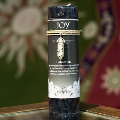 Joy Candle with Dalmation Pendant