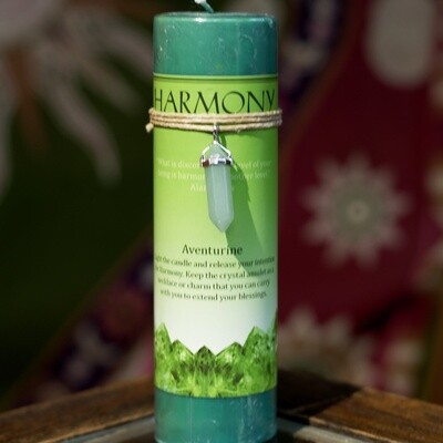 Harmony Candle with Aventurine Pendant