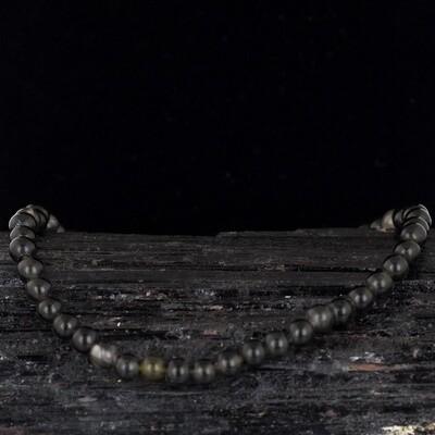 Black Obsidian Energy Bead Bracelet