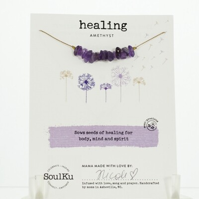 Amethyst Healing Necklace
