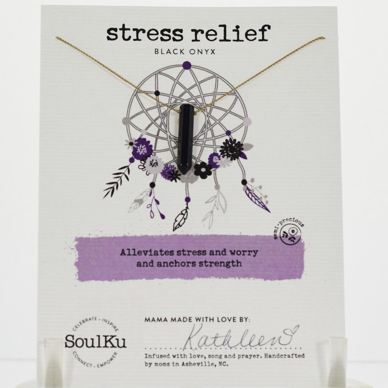 Black Onyx Stress Relief Necklace