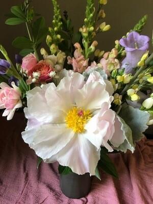 $65 Mother's Day Gift Arrangement in a Swift Mallard Vase