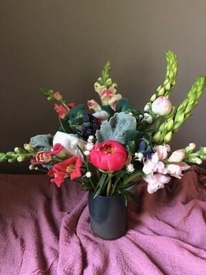 $50 Mother's Day Gift Arrangement in Swift Mallard Vase