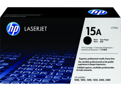 HP LJ 1200  1220  1000  3300 PRINT CARTRIDGE  HP LASERJET ULTRAPRECISE PRINT CARTRIDGE. AVERAGE CARTRIDGE YIELD 2 500 STANDARD PAGES. DECLARED YIELD VALUE IN ACCORDANCE WITH ISO/IEC 19752.