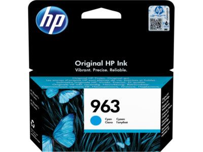 HP # 963 CYAN INK CARTRIDGE FOR OFFICEJET PRO 9000 SERIES (PAGE YIELD 700)