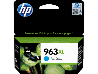 HP # 963XL HIGH YIELD CYAN INK CARTRIDGE FOR PRO 9000 SERIES (PAGE YIELD 1600)