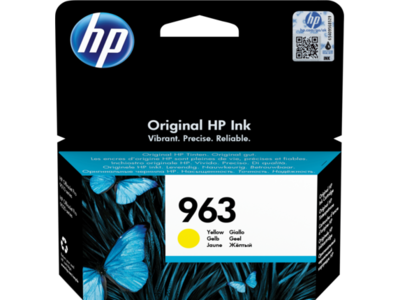 HP # 963 YELLOW INK CARTRIDGE FOR OFFICEJET PRO 9000 SERIES (PAGE YIELD 700)
