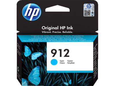 HP # 912 CYAN INK CARTRIDGE FOR OFFICEJET PRO 8000 SERIES (PAGE YIELD 315)