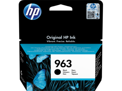 HP # 963 BLACK INK CARTRIDGE FOR OFFICEJET PRO 9000 SERIES (PAGE YIELD 1000)
