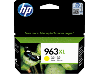HP # 963XL HIGH YIELD YELLOW INK CARTRIDGE FOR PRO 9000 SERIES (PAGE YIELD 1600)
