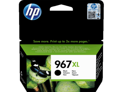 HP # 967XL EXTRA HIGH YIELD BLACK INK CARTRIDGE FOR PRO 9000 SERIES (PAGE YIELD 3000)