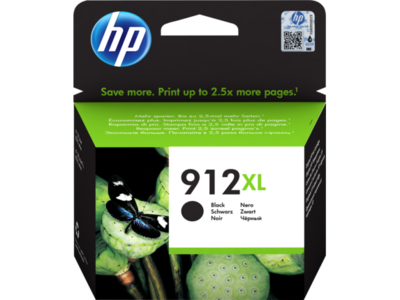 HP # 912XL HIHG YIELD BLACK INK CARTRIDGE FOR OFFICEJET PRO 8000 SERIES (PAGE YIELD 825)