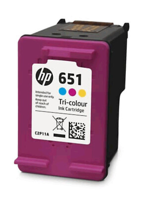 HP 651 TRI-COLOUR INK CARTRIDGE;IA 5575/5645;YIELD 300