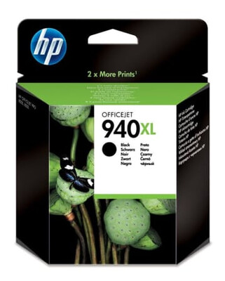 HP #940XL BLK PIGMENT INK CART O/J PRO 8000/8500 2200pgs @5%