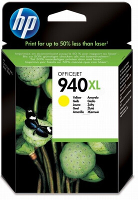 HP #940XL YELL PIGMENT INK CART O/J PRO8000/8500 1400pgs@5%