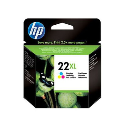 HP 22XL Tri-colour Inkjet Print Cartridge; up to 415 pgs @5%
