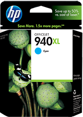 HP #940XL CYAN PIGMENT INK CART O/J PRO8000/8500 1400pgs @5%