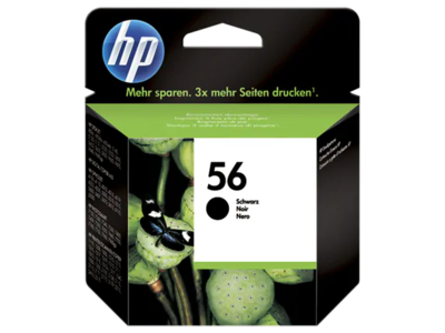 HP #56 BLACK INKJET CARTRIDGE 19ml; 520 PAGES @ 5%