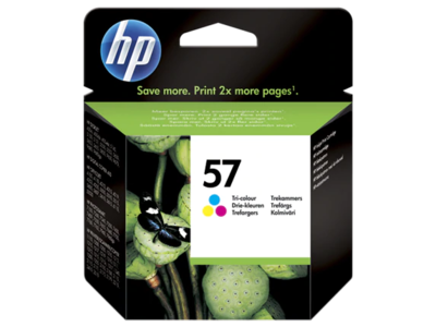 HP #57 TRI-COLOUR INKJET CARTRIDGE 17ml 500 pages @ 5%