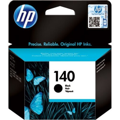 HP #140 Black Inkjet Cart' + Vivera Ink ; 4.5ml; upto 200pgs