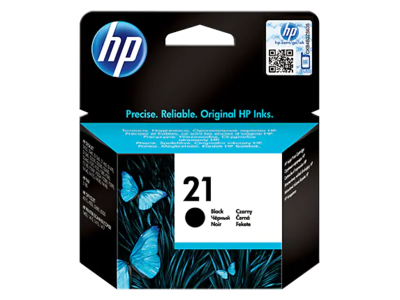 HP #21 BLACK INKJET CARTRIDGE 5ml; up to 200 pages @ 5%