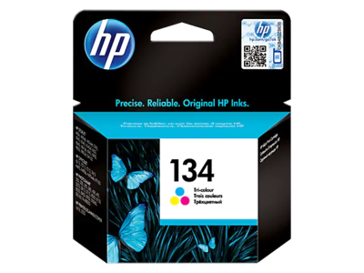 HP #134 Tri-colour Inkjet Cartridge 14ml; 560 pages @ 5%