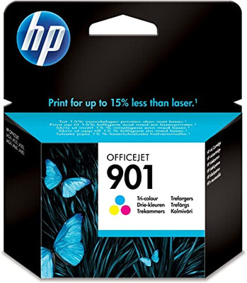 HP 901 Tri-colour Officejet Ink Cartridge; upto 360 pgs @ 5%