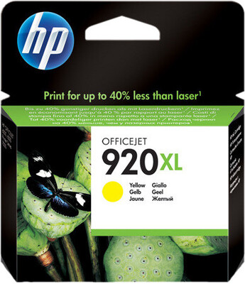 HP 920XL Yellow Officejet Ink Cartridge 700 pages @ 5%