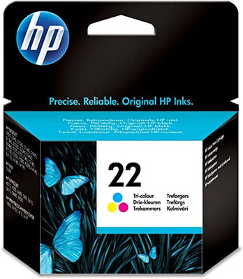 HP #22 TRI-COLOUR INKJET CARTRIDGE 5ml; up to 170 pages @ 5%