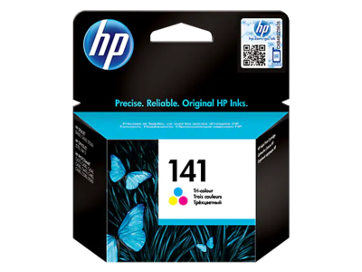 HP #141 Tri-colour Ink Cart' +Vivera Inks; 3.5ml upto 170pgs