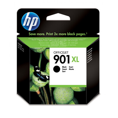 HP 901XL Black Officejet Ink Cartridge; upto 700 pgs @ 5%