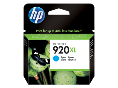 HP 920XL Cyan Officejet Ink Cartridge 700 pages @ 5%