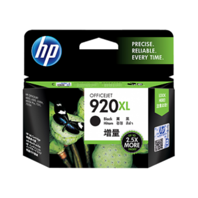 HP 920XL Black Officejet Ink Cartridge 1200 pages @ 5%