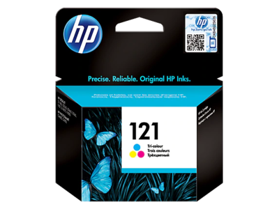 HP 121 Tri-colour Ink Cart' with Vivera Ink;  165 pgs @ 5%