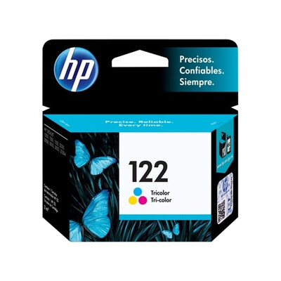 HP 122 TRICOLOR INK CARTRIDGE FOR DESKJET 1000 J110 SERIES (165 PAGE YIELD)