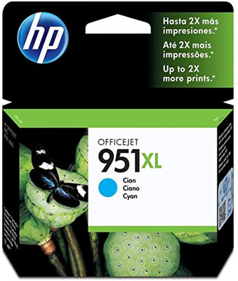 HP #951 XL CYAN OFFICEJET INK CARTRIDGE FOR HP OJPRO 8600 PR