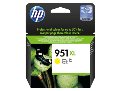 HP #951 XL YELLOW OFFICEJET INK CARTRIDGE FOR HP OJPRO 8600