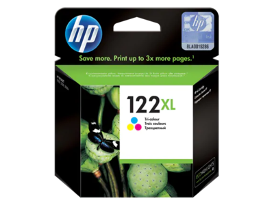 HP 122XL Tri-color Ink Cart' Deskjet AIO 1050, 2050, 330pgs