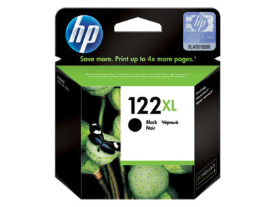 HP 122XL Black Ink Cart DeskjetAIO 1050, 2050, 480pgs @ 5%