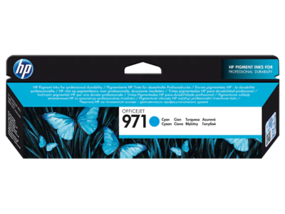 HP 971 Cyan Original Ink Cartridge (2500 pages) (CN622AE) (CN622AE)