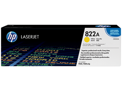 HP CLJ 9500 YELLOW PRINT CARTRIDGE HP COLOR LASERJET SMART PRINT CARTRIDGE.  APPROXIMATE CARTRIDGE YIELD 25 000 PAGES BASED ON 5% COVERAGE.