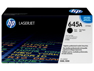 HP CLJ 5500 BLACK PRINT CARTRIDGE HP COLOR LASERJET ALL-IN-ONE SMART PRINT CARTRIDGE CONTAINS TONER  DEVELOPER AND IMAGING DRUM.  APPROXIMATE CARTRIDGE YIELD 13 000 PAGES BASED ON 5% COVERAGE.