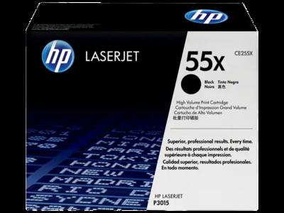HP 55X High Yield Black Original LaserJet Toner Cartridge 12500 PAGES @ 5%