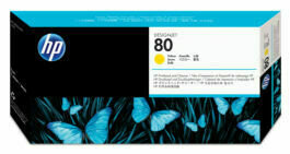 HP No. 80 PrintHead and Cleaners Yellow  (C4823A)