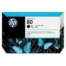 HP No. 80 Ink Cartridge Black 350ml  (C4871A)